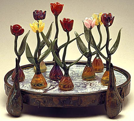 Art-Glass Tulip Time