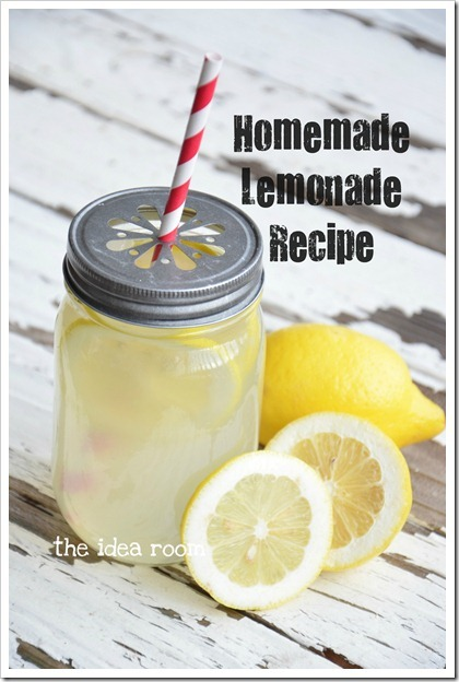 homemade limonade recipy mason jar ball